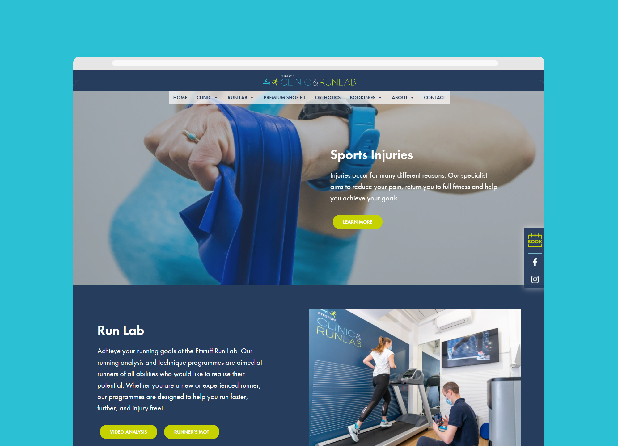Fitstuff Clinic and Run Lab - website
